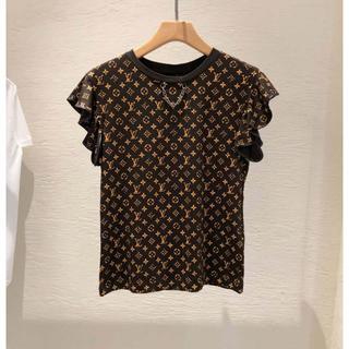 ルイヴィトン(LOUIS VUITTON)のルイヴィトン 20ss 新作 モノグラム フリルトップ(Tシャツ(半袖/袖なし))