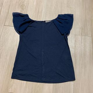 プーラフリーム(pour la frime)の袖シフォンカットソー(カットソー(半袖/袖なし))