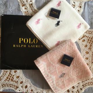 POLO RALPH LAUREN - ポロラルフローレン  タオルハンカチ 新品2枚