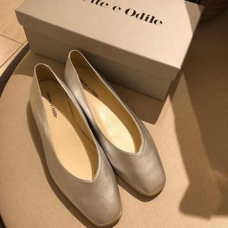 オデットエオディール(Odette e Odile)のオデットエオディール シルバーペタンコ靴 新品未使用(バレエシューズ)