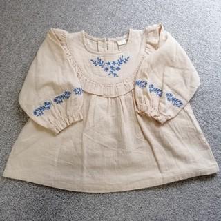 futafuta - テータテート 最新作 刺繍ブラウス 90