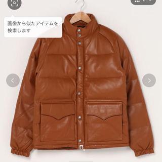 アベイシングエイプ(A BATHING APE)のape bape leather classic down jacket M(ダウンジャケット)