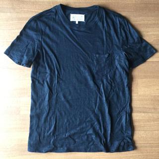 マルタンマルジェラ(Maison Martin Margiela)のメゾンマルジェラ ポケットT 黒46(Tシャツ/カットソー(半袖/袖なし))