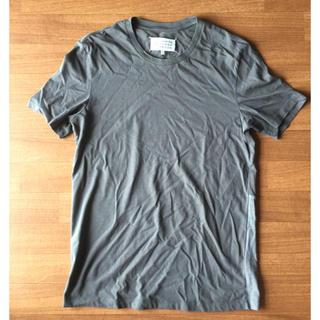 マルタンマルジェラ(Maison Martin Margiela)のメゾンマルジェラ 半袖切り替えバイカラーカットソー 46(Tシャツ/カットソー(半袖/袖なし))