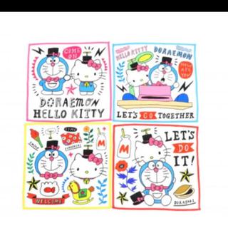 サンリオ(サンリオ)の【新品】アソコ ドラえもん キティ キッチンタオルセット 4枚  サンリオ(収納/キッチン雑貨)