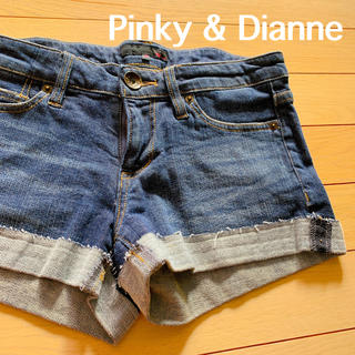 ピンキーアンドダイアン(Pinky&Dianne)のS953 美品 P&D ショートパンツ デニム ピンキーアンドダイアン S(ショートパンツ)