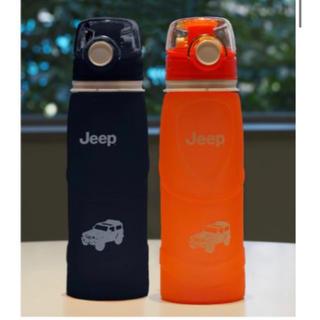 Jeep - 非売品★新品 Jeep ラングラー シリコンボトル  黒★水筒 ノベルティ