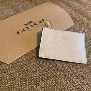 コーチ(COACH)の【新品・未使用】コーチ COACH コインケース ホワイト 白(コインケース)