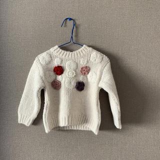 ザラキッズ(ZARA KIDS)のお花モチーフセーター(ニット/セーター)