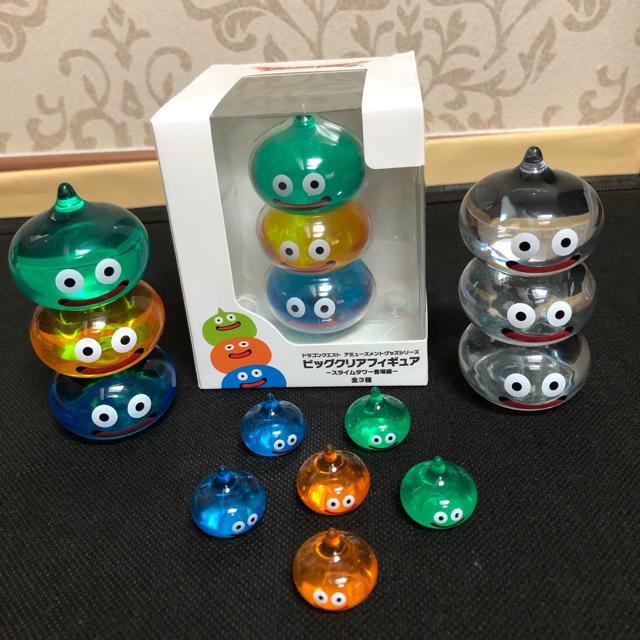 SQUARE ENIX(スクウェアエニックス)のドラクエ スライム ビッククリアフィギュアスライムタワー3点セット エンタメ/ホビーのおもちゃ/ぬいぐるみ(キャラクターグッズ)の商品写真