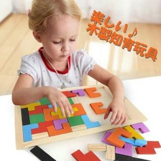 子どものおもちゃ?☆木製知育玩具☆ パズル ブロック♪