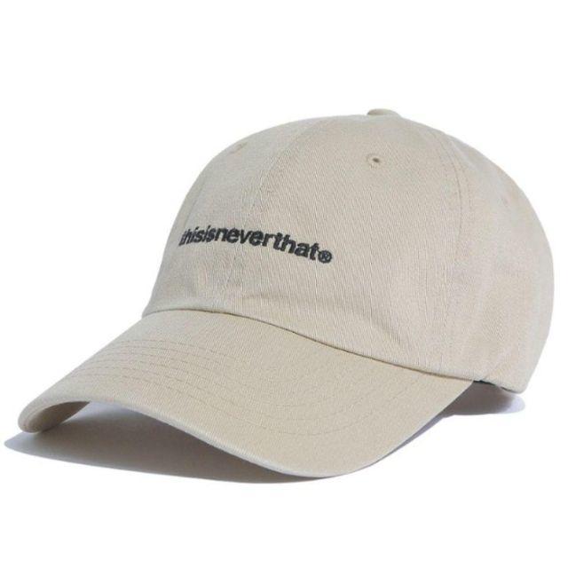 【新品】thisisneverthat ネバザ 刺繍ロゴキャップ カーキ メンズの帽子(キャップ)の商品写真