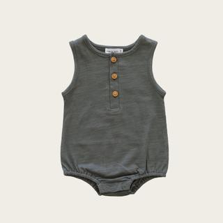 キャラメルベビー&チャイルド(Caramel baby&child )のJamiekay SlubCotton Riley Romper Oxford (ロンパース)