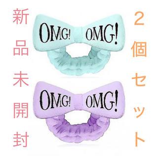 ジェラートピケ(gelato pique)の【2個セット❤️新品未開封】ダブルデア OMGヘアバンド #ブルー #パープル(ヘアバンド)