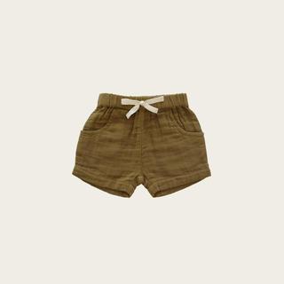 キャラメルベビー&チャイルド(Caramel baby&child )のOrganic Cotton Muslin Lily Short - Gold (パンツ)