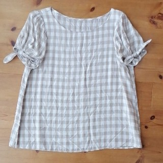 クチュールブローチ(Couture Brooch)のギンガムチェック トップス 38(カットソー(半袖/袖なし))