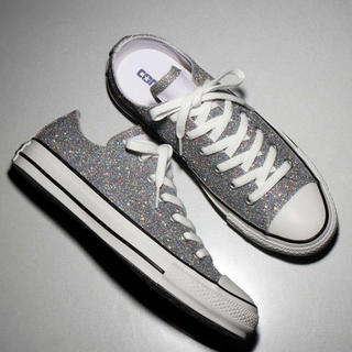 CONVERSE - CONVERSE ALL STAR GLITTER OX (シルバー)