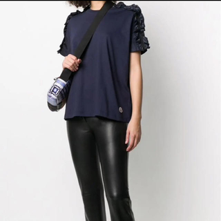モンクレール(MONCLER)のモンクレール フリルTシャツ S 正規品(Tシャツ(半袖/袖なし))