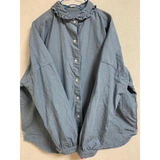 nest Robe - ネストローブ  高密度リネン フリルシャツ 美品!