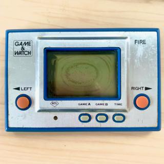 ニンテンドウ(任天堂)のゲームウォッチ ファイア GAME&WATCH FIRE 任天堂 昭和 レトロ(携帯用ゲーム機本体)