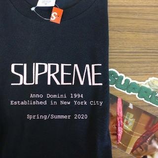 Supreme - ステッカー付! supreme anno domini tee  M 黒