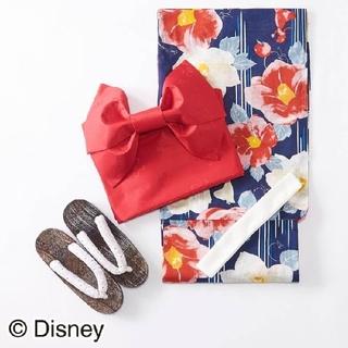 ディズニー(Disney)の【新品】白雪姫 浴衣 レディース 花柄  4点 ディズニー  椿 プリンセス(浴衣)