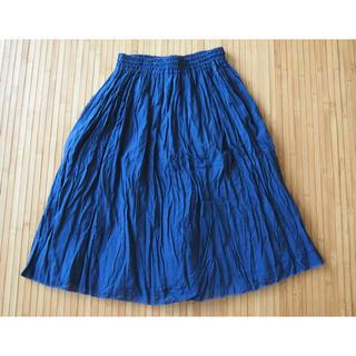 brooch. ギャザースカート ネイビー Mサイズ(ひざ丈スカート)