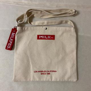 ミルクフェド(MILKFED.)の【新品未使用】ミルクフェド キャンバスバッグ ショルダーバッグ サコッシュ(ショルダーバッグ)