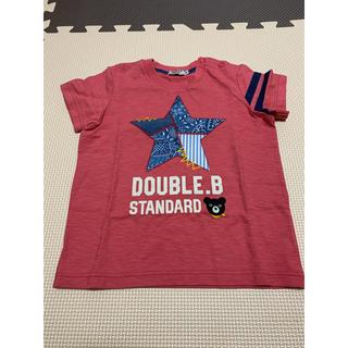 DOUBLE.B - 【90サイズ】ダブルビー ペイズリー半袖Tシャツ