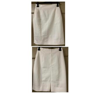エイチアンドエム(H&M)の未使用H&M#膝丈タイトスカート#オフホワイト#サイズ6(ひざ丈スカート)