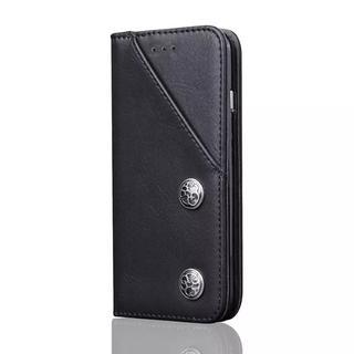 iPhoneX ブラック 手帳型ケース カード収納付き