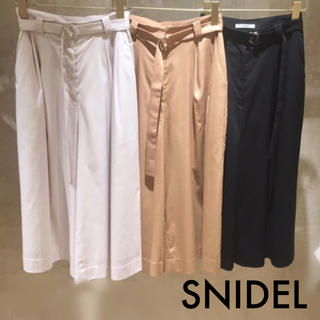 snidel - snidel ベルト付 ガウチョパンツ♡リリーブラウン FRAY I.D