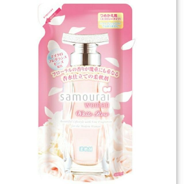 SAMOURAI(サムライ)のサムライウーマン人気No1.柔軟剤ホワイトローズ詰め替え480ml インテリア/住まい/日用品の日用品/生活雑貨/旅行(洗剤/柔軟剤)の商品写真