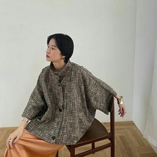 CLANE☆シースルーチェックオーバーシャツジャケット☆新品未使用タグ付き