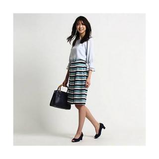 ザラ(ZARA)の新品♡マリンボーダースカート(ひざ丈スカート)