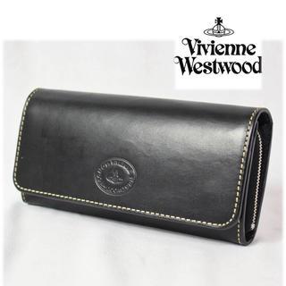 ヴィヴィアンウエストウッド(Vivienne Westwood)の 《ヴィヴィアンウエストウッド》箱付新品 チャンキー かぶせ式 長財布 黒 (長財布)