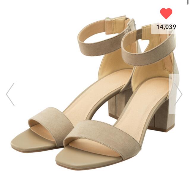 GU(ジーユー)のGU サンダル Lサイズ ベージュ レディースの靴/シューズ(サンダル)の商品写真
