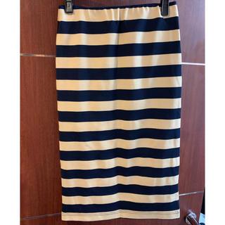 アウラアイラ(AULA AILA)のAULAAILA  ボーダー膝丈スカート(ひざ丈スカート)