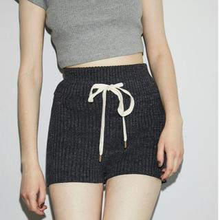 ALEXIA STAM - juemi Heather Knit Shorts black