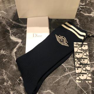 ディオール(Dior)のAIR DIOR 靴下 ネイビー M(ソックス)