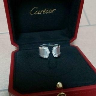 カルティエ(Cartier)のCartier カルティエ C2リング ホワイトゴールドダイヤ LM   15号(リング(指輪))