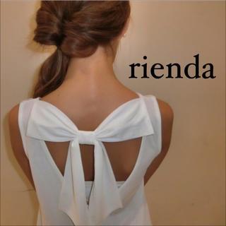rienda - rienda Back リボン フレア トップス♡ロイヤルパーティー デュラス