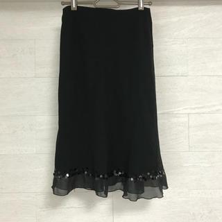 エフデ(ef-de)のef-de エフデ ブラック スカート フォーマル ロングスカート(ひざ丈スカート)