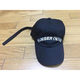 ナンバーナイン(NUMBER (N)INE)の中古ナンバーナインデニム黒キャップ帽子フリーサイズ(キャップ)