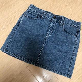 ユニクロ(UNIQLO)のスカート ユニクロ デニムミニスカート デニムスカート ZARA GU H&M(ミニスカート)
