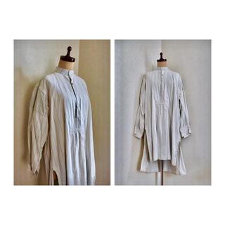 マルタンマルジェラ(Maison Martin Margiela)の1930s Antique stand collar shirt アンティーク(シャツ/ブラウス(長袖/七分))