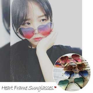 サングラス レディース ハート型 グラデーション めがね グラサン メガネ 眼鏡(サングラス/メガネ)