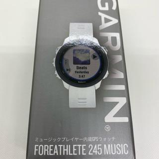 ガーミン(GARMIN)のGARMIN FOREATHLETE 245 MUSIC WHITE BLACK(腕時計(デジタル))