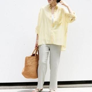 IENA - タグなし未使用◆IENA シアーシャツ:イエロー