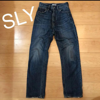 SLY - SLY ワイドストレートデニム
